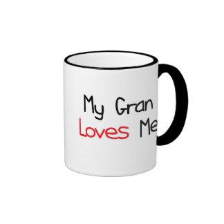 Gran Loves Me Ringer Mug