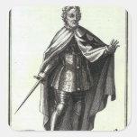Gran maestro de la orden teutónica pegatina cuadrada