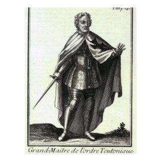 Gran maestro de la orden teutónica tarjeta postal