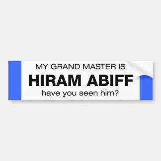 Gran maestro Hiram Abiff Pegatina Para Auto