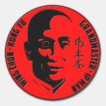"Gran maestro - hombre del IP (""ala Chun - Kung Pegatina Redonda"