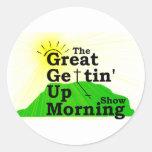 Gran mañana que se levanta etiqueta