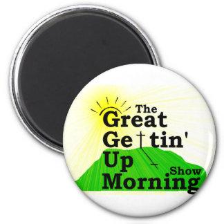 Gran mañana que se levanta imán redondo 5 cm