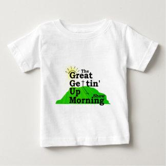 Gran mañana que se levanta playera de bebé
