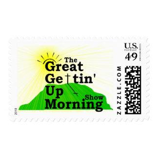 Gran mañana que se levanta sellos postales