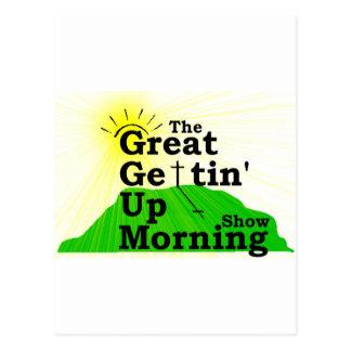 Gran mañana que se levanta tarjetas postales