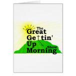 Gran mañana que se levanta tarjetón