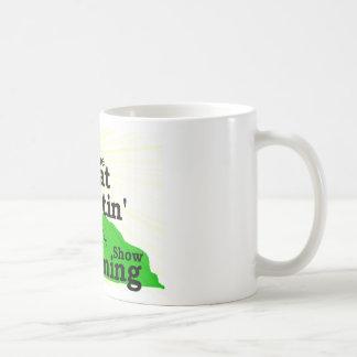Gran mañana que se levanta taza de café