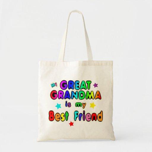 Gran mejor amigo de la abuela bolsa tela barata