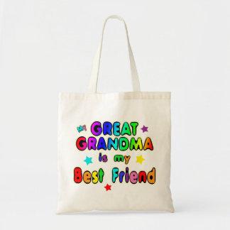 Gran mejor amigo de la abuela bolsas de mano