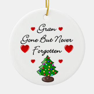 Gran Memorial Ceramic Christmas Tree Ornament