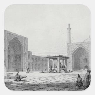 Gran mezquita de viernes (Masjid-i Djum-ah) en Pegatina Cuadrada