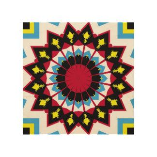 Gran modelo abstracto colorido impresión en madera