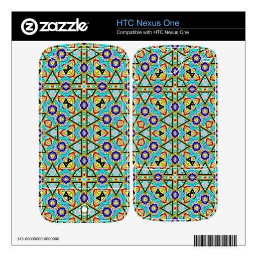 Gran modelo abstracto calcomanía para HTC nexus one