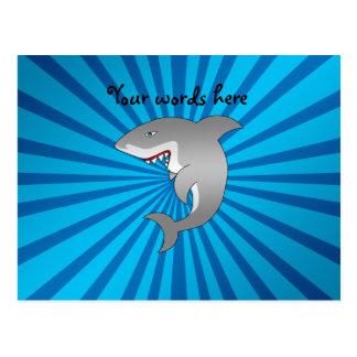 Gran modelo azul del resplandor solar del tiburón postal