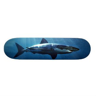 gran monopatín del tiburón blanco monopatin personalizado