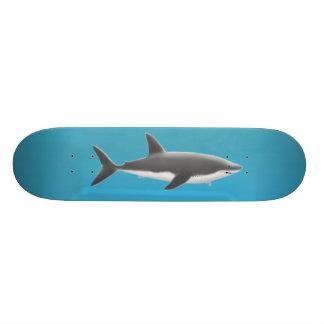 Gran monopatín del tiburón blanco patinetas personalizadas
