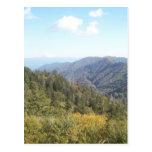 Gran montaña ahumada Vista 1 Postal