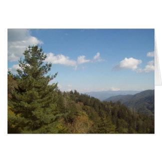 Gran montaña ahumada Vista 3 Tarjeta De Felicitación