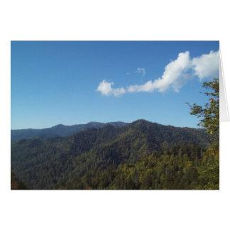 Gran montaña ahumada Vista 7 Tarjeta De Felicitación