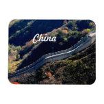 Gran Muralla china Imán Rectangular