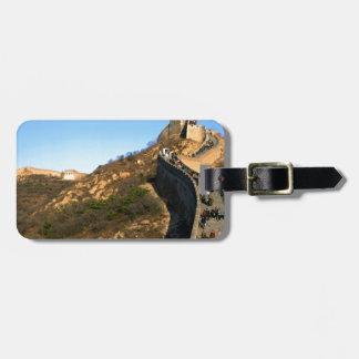 Gran Muralla de China Etiqueta Para Equipaje