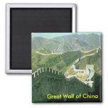 Gran Muralla de China Imán Cuadrado