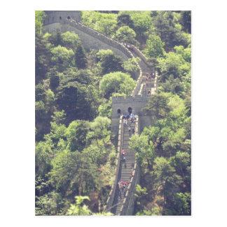 Gran Muralla de los árboles de las escaleras de la Postales