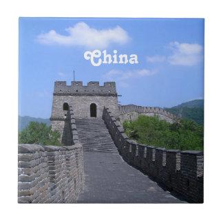 Gran Muralla en China Azulejo Cuadrado Pequeño