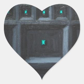 Gran Muralla gótica verdosa (surrealismo del Pegatina Corazon