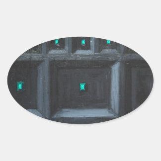 Gran Muralla gótica verdosa (surrealismo del Calcomania Óval