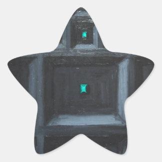 Gran Muralla gótica verdosa (surrealismo del Calcomanías Forma De Estrella