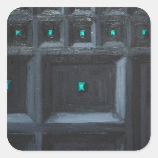 Gran Muralla gótica verdosa (surrealismo del Calcomanía Cuadradas