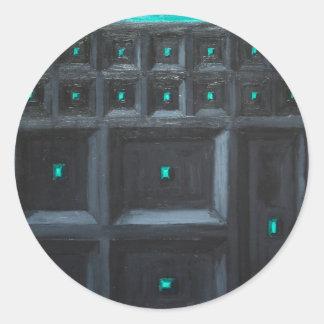 Gran Muralla gótica verdosa (surrealismo del Etiqueta Redonda