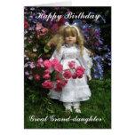 Gran nieta del feliz cumpleaños tarjeta de felicitación