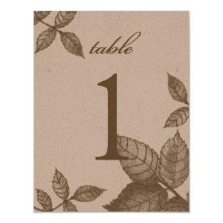 """Gran número de la tabla del bosquejo color de rosa invitación 4.25"""" x 5.5"""""""