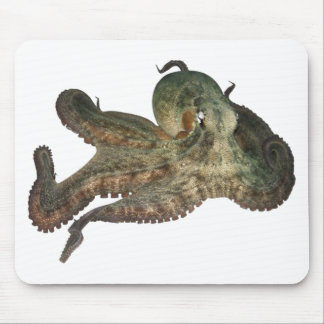 Gran octapi del pulpo del océano mousepads