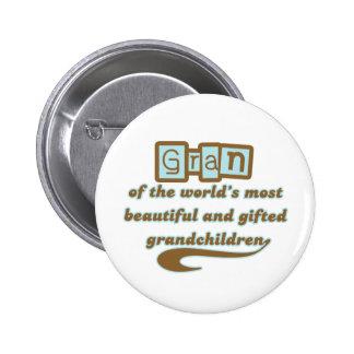 Gran of Gifted Grandchildren Button