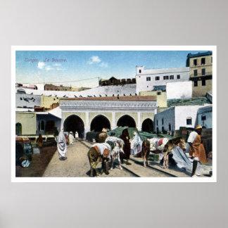 Gran oficina de aduanas de Marruecos Tánger del Póster