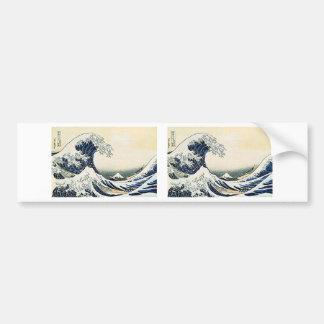 Gran onda 3D de Hokusai Pegatina Para Auto
