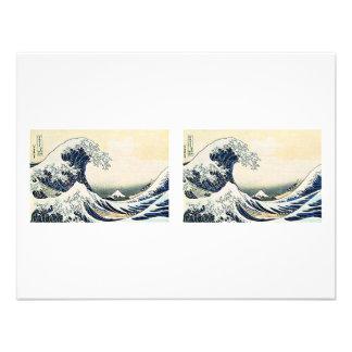 Gran onda 3D de Hokusai Invitaciones Personales
