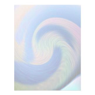 Gran onda azul plantilla de membrete
