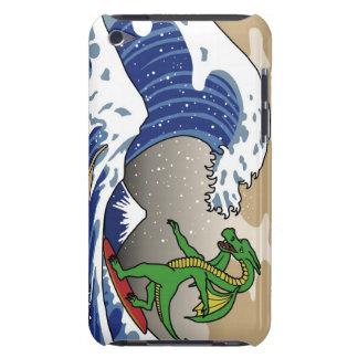Gran onda con el dragón iPod touch protector