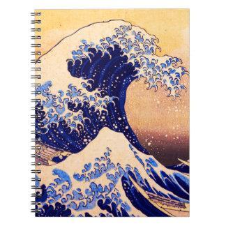 Gran onda de Hokusai Libros De Apuntes