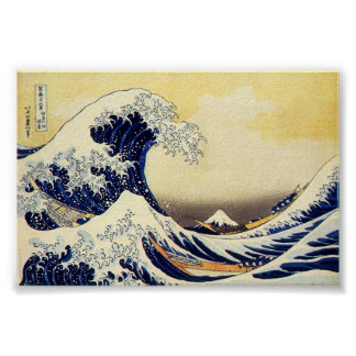 Gran onda de Hokusawa Póster