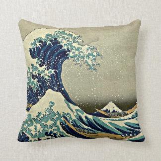 Gran onda de Kanagawa Cojín
