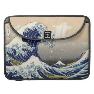Gran onda de Kanagawa Fundas Para Macbook Pro