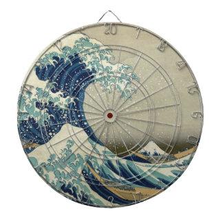 Gran onda de Kanagawa - Hokusai Tabla Dardos