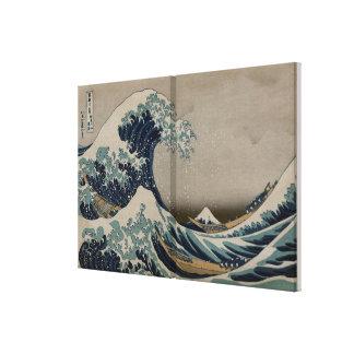 Gran onda de Kanagawa - imagen del arte de Pre-190 Impresion En Lona
