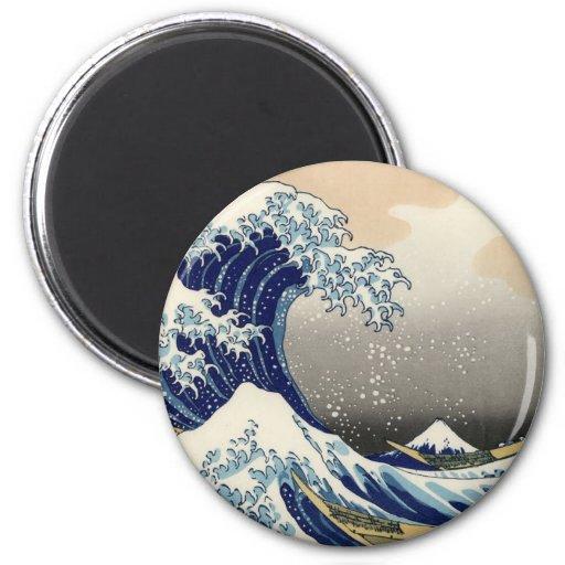 Gran onda de Kanagawa Imán Para Frigorífico